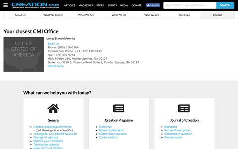 Screenshot of Contact Page creation.com - Worldwide Contact Information - creation.com - captured Sept. 30, 2018