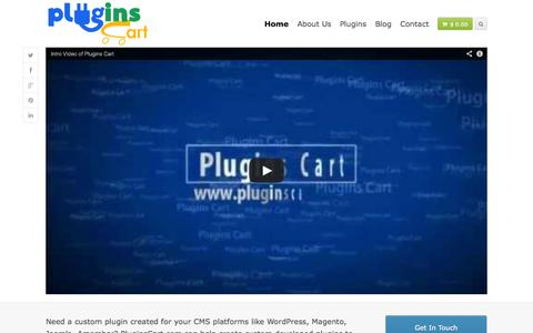 Screenshot of Home Page pluginscart.com - One MarketPlace for plugins, extensions, components, modules. | Plugins Cart - captured Sept. 30, 2014