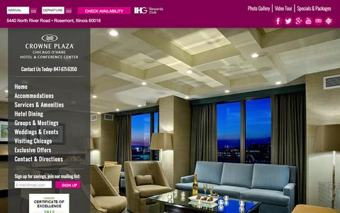 Screenshot of Testimonials Page crowneplazaohare.com - Chicago IL Hotel Testimonials | Hotel in the West Loop of Chicago. - captured Feb. 1, 2016