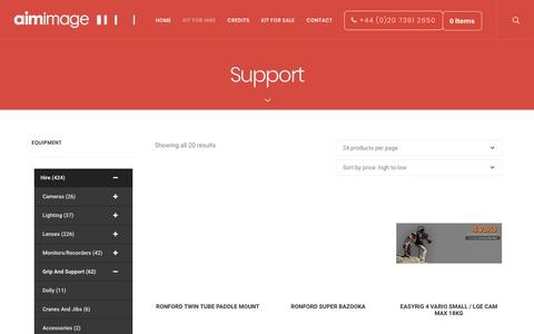 Screenshot of Support Page aimimage.com - Support Archives - Aimimage - captured Oct. 3, 2018