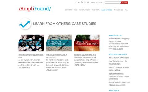Screenshot of Case Studies Page seerinteractive.com - Case Studies & Real-Life Blogger Stories | AmpliFound - captured April 20, 2017