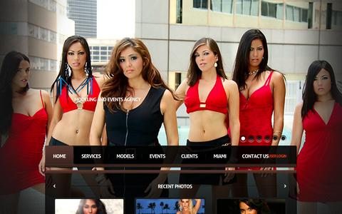 Screenshot of Home Page modamodelos.com - MODA Modelos & Creative Agency | Modeling and Events Agency - captured Sept. 30, 2014
