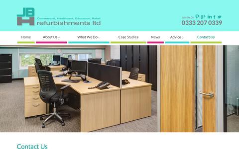 Screenshot of Contact Page jbhrefurbishments.co.uk - Contact Us - JBH Refurbishments - captured Sept. 30, 2017
