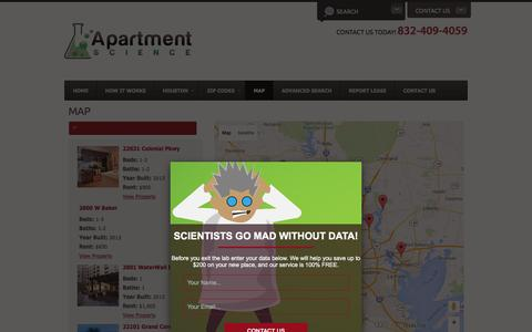 Screenshot of Maps & Directions Page apartmentscience.com - Map - captured Dec. 25, 2015