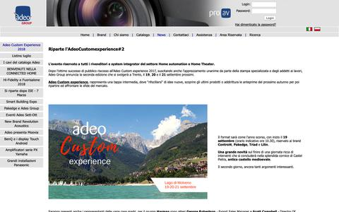 Screenshot of Press Page adeoproav.it - Adeo Group SpA - captured Oct. 3, 2018