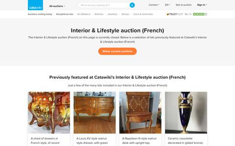 Interior & Lifestyle auction (French) - Catawiki