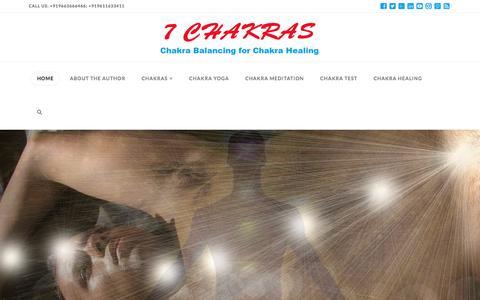 Screenshot of Home Page 7chakras.org - 7 Chakras: Chakra Balancing for Chakra Healing Through Opening Chakras - captured Sept. 20, 2018