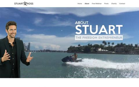 Screenshot of About Page stuart-ross.com - About   The Official Site of Stuart Ross - captured Jan. 31, 2016