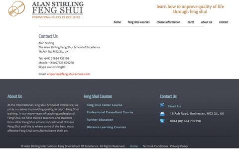 Screenshot of Contact Page feng-shui-school.com - Contact Feng Shui School - captured June 13, 2016