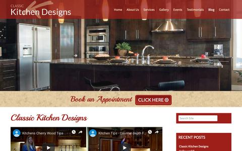 Screenshot of Blog classickitchendesigns.ca - Classic Kitchen Designs | Mississauga ON | Blog - captured April 12, 2019