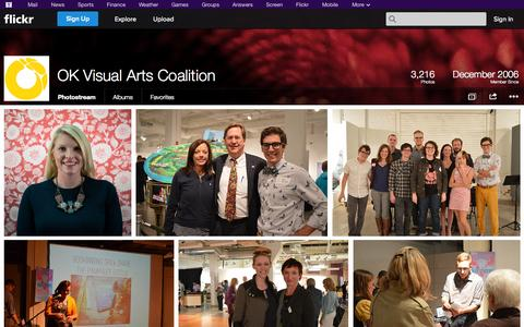Screenshot of Flickr Page flickr.com - Flickr: OK Visual Arts Coalition's Photostream - captured Oct. 26, 2014