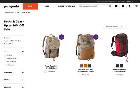 Travel Luggage, Packs & Gear on Sale at Patagonia.com