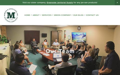 Screenshot of Team Page morenoclean.com - Our Team — Moreno & Associates, Inc. - captured Nov. 16, 2018