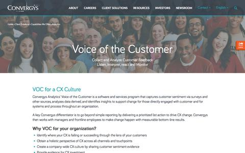Voice of the Customer  |  Convergys