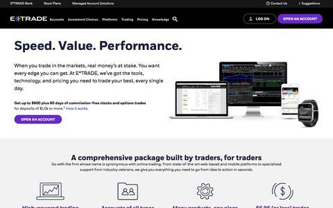 E*TRADE Financial | Investing, Trading & Retirement