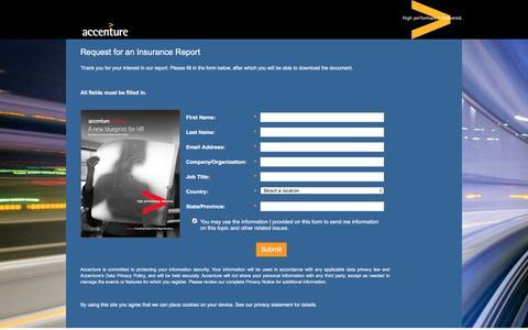 Screenshot of Landing Page accenture.com - A new blueprint for HR - captured Oct. 29, 2016