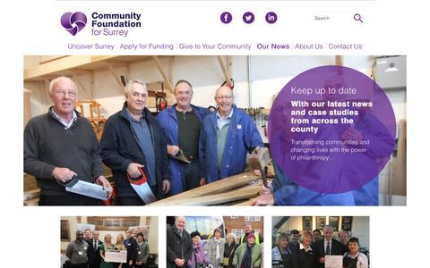 Screenshot of Case Studies Page cfsurrey.org.uk - Case Studies - Community Foundation for Surrey - captured Nov. 9, 2016