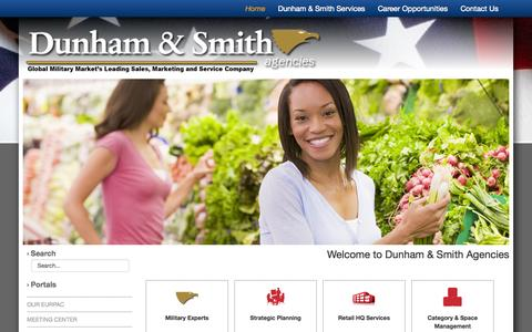 Screenshot of Home Page dunhamandsmith.com - Welcome to Dunham & Smith Agencies - captured Oct. 5, 2014