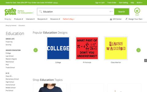 Education Gifts:  T-Shirts and More - CafePress