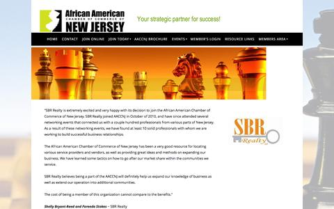 Screenshot of Testimonials Page aaccnj.com - African American Chamber of Commerce of NJ - Testimonials - captured Feb. 5, 2016