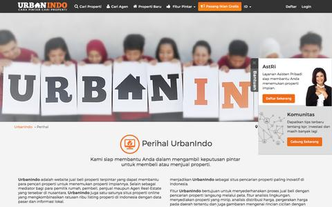 Screenshot of About Page urbanindo.com - Perihal - captured Aug. 21, 2016