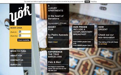 Screenshot of Home Page helloyok.com - yök Casa + Cultura Barcelona - captured Sept. 4, 2015