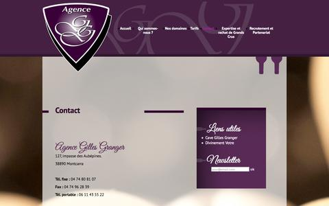 Screenshot of Contact Page agence-gilles-granger.fr - Agence Gilles Granger » Contact - captured Sept. 30, 2014