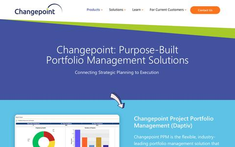 Screenshot of Products Page changepoint.com - Our Project Portfolio Management Tools | Changepoint - captured Oct. 7, 2019