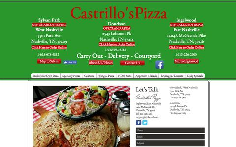 Screenshot of Contact Page castrillos.com - Contact Us - captured Oct. 27, 2016
