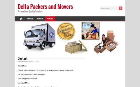 Contact | Delta Packers and Movers