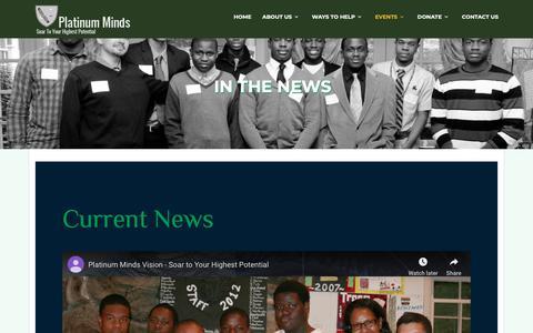 Screenshot of Press Page platinumminds.org - Platinum Minds - captured Nov. 5, 2018
