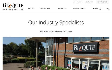 Screenshot of Team Page bizquip.ie - Our Industry Specialists - Bizquip - captured Dec. 18, 2018
