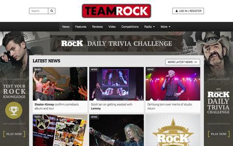 Screenshot of Press Page teamrock.com - TeamRock - captured Oct. 22, 2014