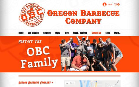 Screenshot of Contact Page bbqoregon.com - Contact Us | United States | Oregon Barbecue Company - captured Oct. 18, 2018