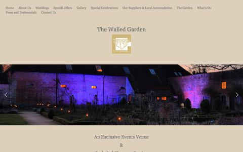 Screenshot of Home Page walledgardencowdray.com - Welcome to the Walled Garden Cowdray, Midhurst - captured Feb. 12, 2018