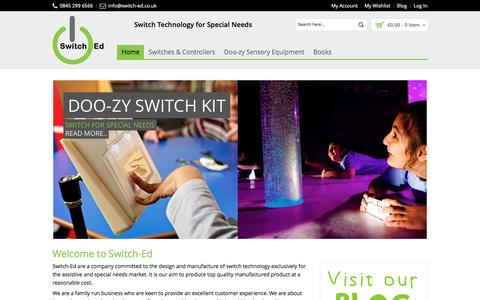 Screenshot of Home Page switch-ed.co.uk - Switch Technology for Special Needs - Switch-Ed - captured Feb. 28, 2016
