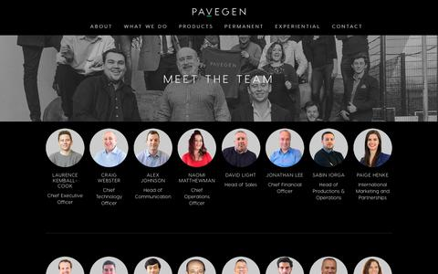 Screenshot of Team Page pavegen.com - Pavegen – Meet the Team — Pavegen - The Next Step - captured Feb. 14, 2019