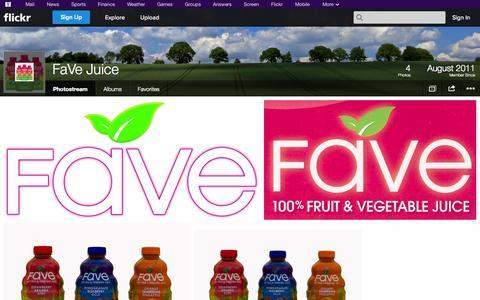Screenshot of Flickr Page flickr.com - Flickr: FaVe Juice's Photostream - captured Oct. 26, 2014