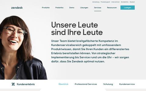 Screenshot of Services Page zendesk.de - Kundenerlebnis   Zendesk - captured Sept. 23, 2018