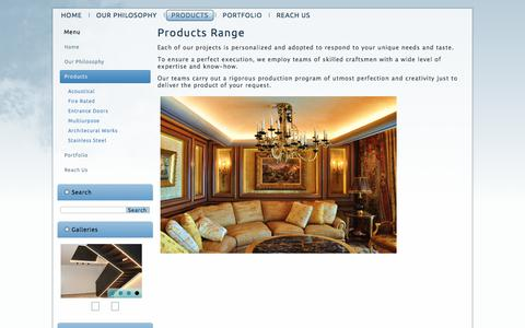Screenshot of Products Page boisdafrique.com - Products Range - captured July 5, 2017