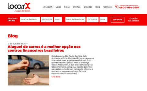 Screenshot of Blog locarx.com.br - Blog - LocarX - captured Sept. 29, 2018