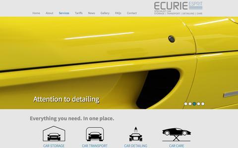 Screenshot of Services Page ecurieesprit.co.uk - Services - Ecurie Esprit - captured Oct. 27, 2014