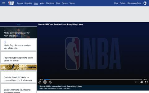 Screenshot of Press Page nba.com - NBA News and Headlines | NBA.com - captured Sept. 21, 2018