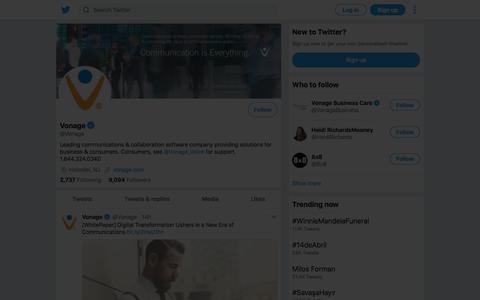 Tweets by Vonage (@Vonage) – Twitter