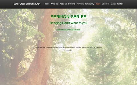 Screenshot of Press Page esherchurch.org - Media - Esher Green Baptist Church - captured Nov. 10, 2018