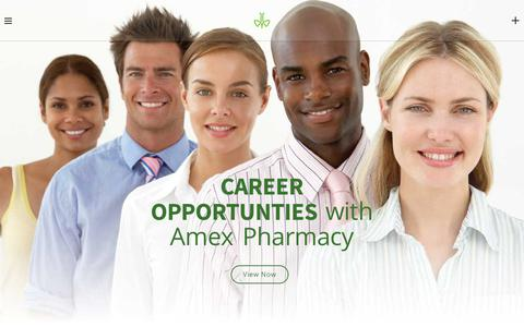Screenshot of Home Page amexpharmacy.com - AMEX PHARMACY – Compounding Pharmacy – Better Solution, Personalized Care - captured Nov. 6, 2018