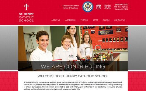 Screenshot of Home Page About Page sthenryschool.net - St. Henry Catholic School | Erlanger, KY - captured April 27, 2017