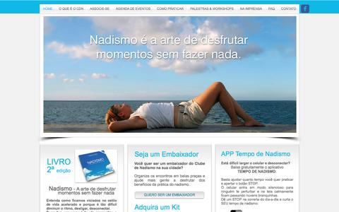 Screenshot of Home Page clubedenadismo.com.br - clube de nadismo - captured July 14, 2016