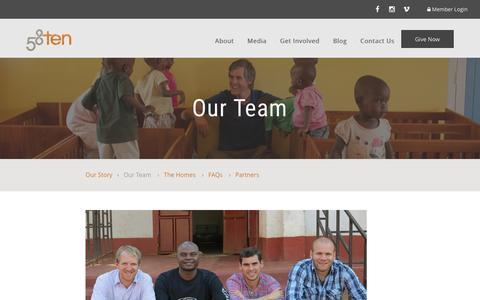 Screenshot of Team Page 58ten.com - Our Team – 58ten Website - captured Feb. 27, 2016