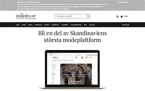 Screenshot of Signup Page miinto.se - Klädsel | Handla modekläder online i Sveriges häftigaste butiker | miinto.se - captured June 30, 2017
